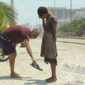 kindness - giving shoes